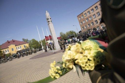 Pagerbiant partizanus, Lietuvos kariuomenė surengė žygį per Pietų Lietuvą