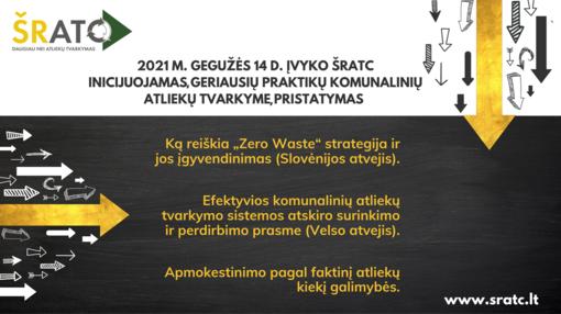 ŠRATC inicijavo geriausių praktikų komunalinių atliekų tvarkyme pristatymą