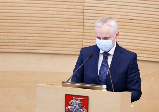 Seimo pirmininkė dėl V. Mizaro: nors buvo homofobiškų pareiškimų, parodėme, kad svarbu asmens laisvės