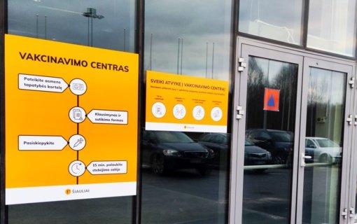 Šiaulių vakcinavimo centre – galimybė pasiskiepyti be išankstinės registracijos
