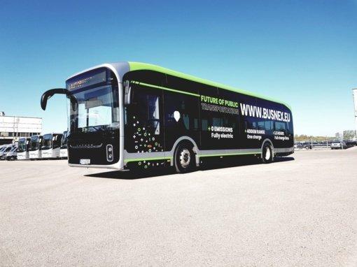 Marijampolės mieste bandomas elektrinis autobusas