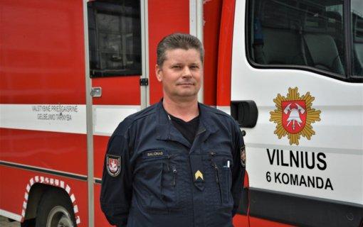 """Ugniagesys gelbėtojas Virginijus Baliūnas: """"Svarbiausia darbe – sąžiningai atlikti savo pareigas"""""""