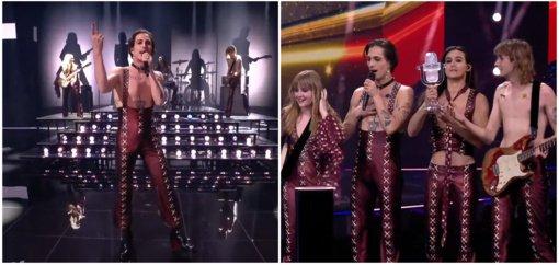 """Rokeriai """"Maneskin"""" po 31-erių metų Italijai sugrąžino """"Eurovizijos"""" konkurso laimėtojų vardą"""