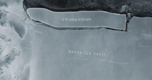 Antarktida toliau byra: atskilo didžiausias pasaulyje ledkalnis (vaizdo įrašas)