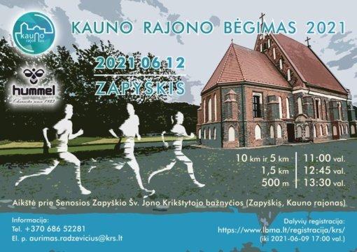 Kauno rajonas laukia bėgikų Zapyškyje