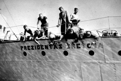 """Jūrinės valstybės simbolis – karo laivas """"Prezidentas Smetona"""""""