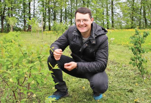Jaunasis ūkininkas Andrius Vingilys pasinėrė į augalų pasaulį