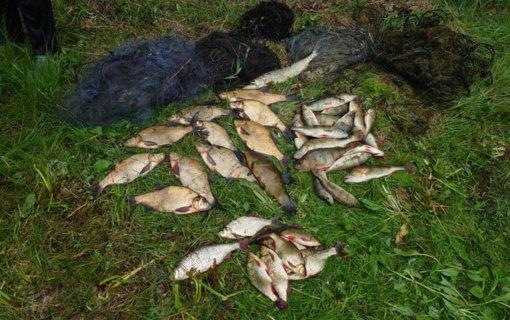 Avilio ežere neteisėtai žvejoję asmenys vien už žalą aplinkai sumokės 1487 eurus