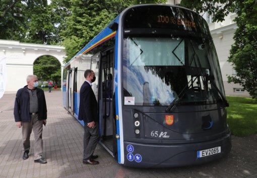 """Klaipėdoje pagamintas elektrinis autobusas """"Dancer"""" atvyksta į Vilnių"""