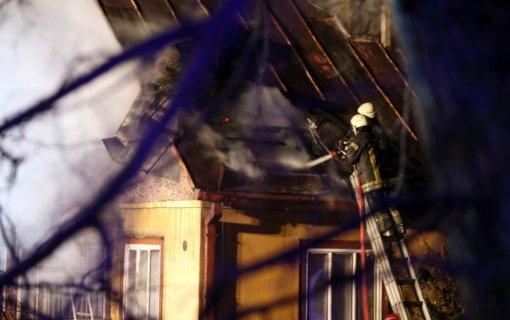 Giedraičių seniūnijoje sudegė namas