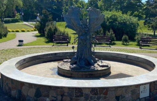 """Tauragėje atnaujintas fontanas-skulptūra """"Gyvybės medis"""""""