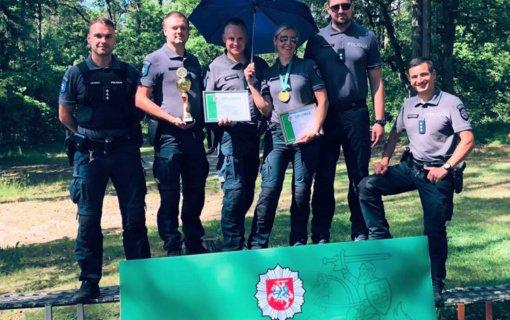 Marijampolės apskrities VPK komanda – šaudymo čempionato prizininkė
