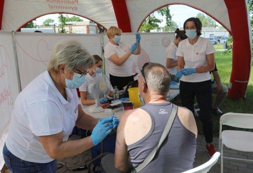 Ukmergės savivaldybės ir Nacionalinio kraujo centro organizuotoje akcijoje paskiepyti 405 asmenys