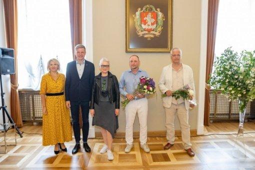 Trims sostinės kūrėjams įteiktos Vilniaus mero premijos