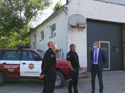 Meras V. Tomkus susitiko su Priešgaisrinės apsaugos ir gelbėjimo departamento atstovais