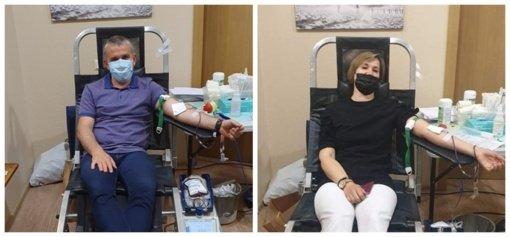 Vilkaviškio rajono savivaldybės administracijoje vyko Kraujo donorystės akcija