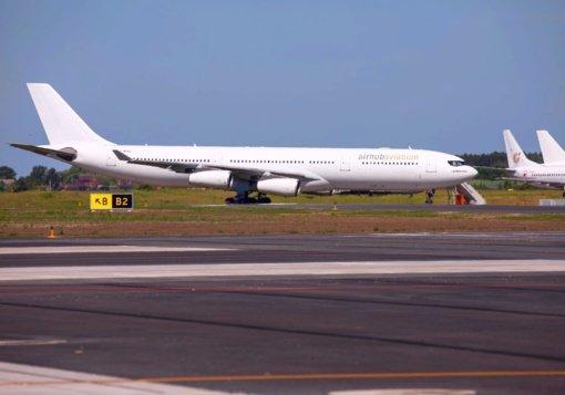 """Šiauliuose aptarnaujamas """"Airbus"""" gigantas"""