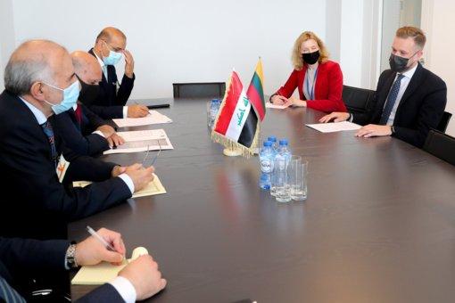 G. Landsbergis prašo Irako pagalbos sugrąžinant neteisėtus migrantus į šalį
