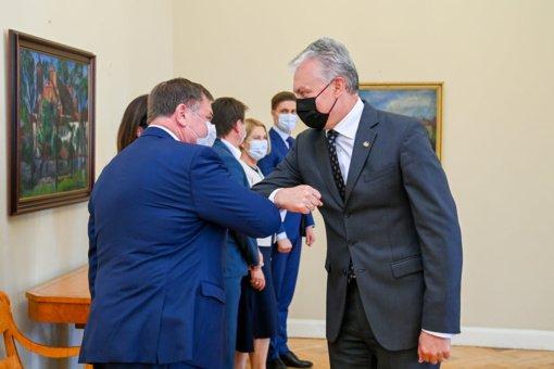 Elektrėnų savivaldybės meras susitiko su šalies prezidentu G. Nausėda