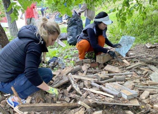 Talka Trakų istoriniame parke – rezultatais džiaugtųsi pats Tiškevičius
