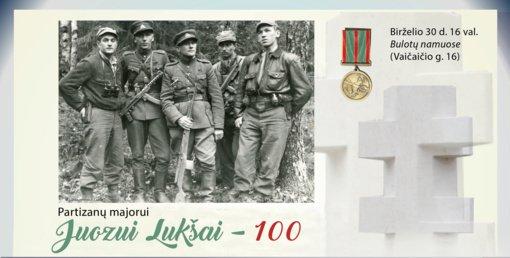 Partizanų majorui Juozui Lukšai – 100