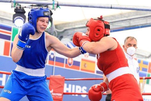 Lietuvos boksininkė Gabrielė Stonkutė tapo Europos jaunimo vicečempione