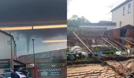 Londoną nusiaubė tornadas (vaizdo įrašas)