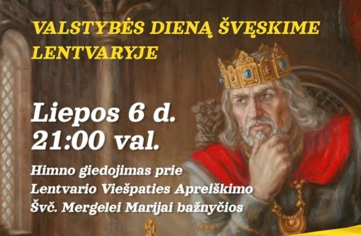 Valstybės dieną kviečia švęsti Lentvaryje