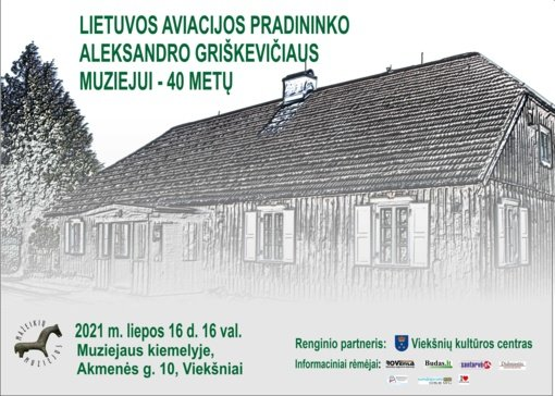 Minės Lietuvos aviacijos pradininko Aleksandro Griškevičiaus muziejaus 40 metų veiklos sukaktį
