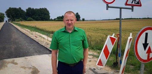 Prasidėjo kelio Viduklė–Gyliai–Šienlaukis asfaltavimo darbai