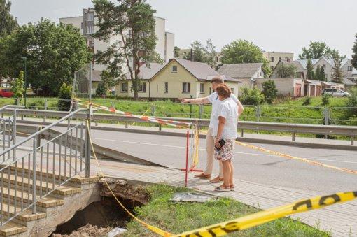Nelaimingas atsitikimas Ligoninės gatvėje: savivaldybė prašo alytiškių paisyti ženklų