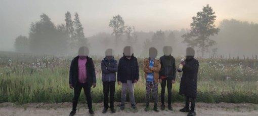 Ketvirtadienį sulaikyti 107 neteisėti migrantai iš Baltarusijos