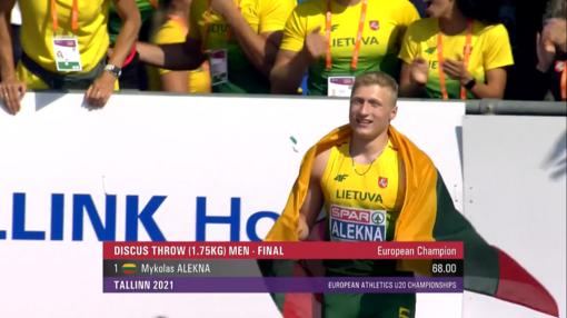 Varžovams nosis nušluostęs Mykolas Alekna – Europos jaunimo čempionas