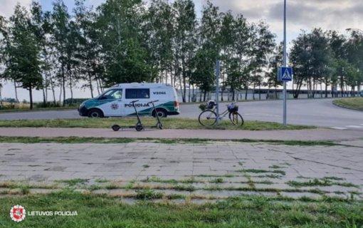 Elektrėnuose vienuolikmetė paspirtukininkė kliudė dviračiu važiavusią senjorę