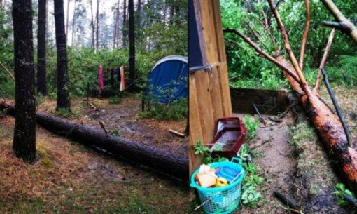 Savaitgalį miške papuolė į audrą: to patirti niekam nelinkėtų