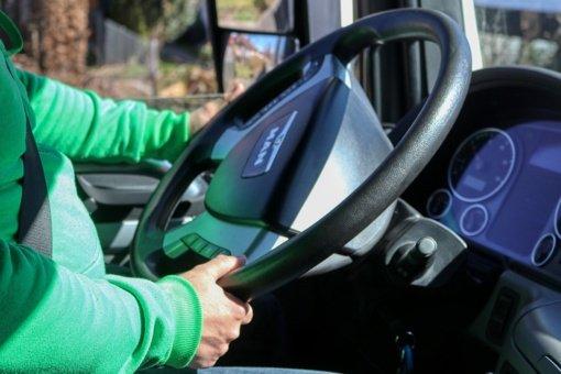 Bus įrengtos mobilios vakcinacijos vietos vilkikų vairuotojams