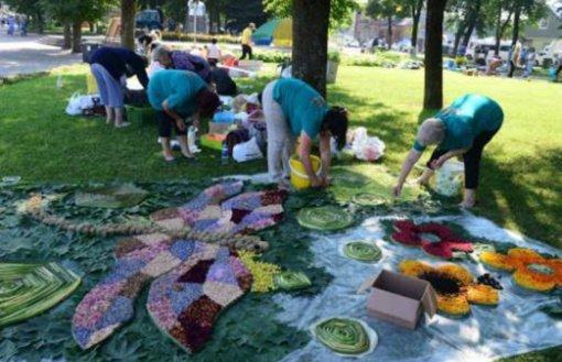 Anykščius papuoš 13 floristinių kilimų