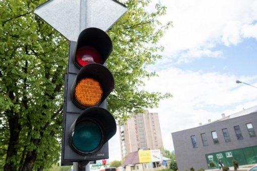 Dėl gatvių remonto darbų Panevėžyje laikinai neveiks šviesoforai