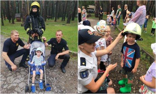 Druskininkų ugniagesiai aplankė darželinukus