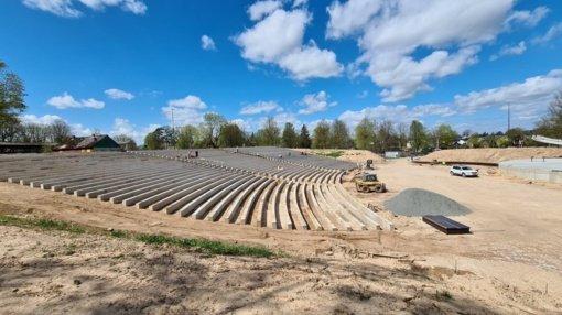 Šiaulių centrinio parko estrados renovaciją ketinama baigti iki rugsėjo