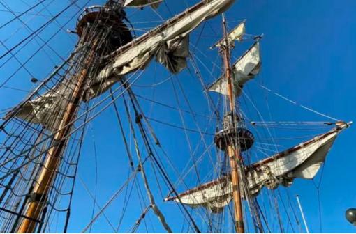Jūros šventę papuošusių burlaivių įgulos negailėjo pagyrų Klaipėdai