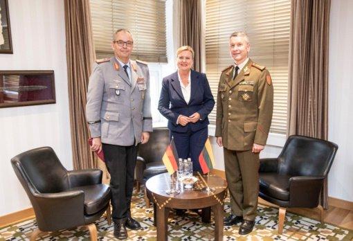 Lietuvoje lankosi Vokietijos Sausumos pajėgų vadas