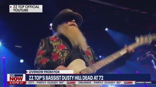 "Mirė bliuzroko grupės ""ZZ Top"" narys Dusty Hillas"