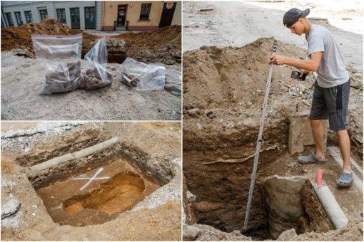 Rekonstruojama Vilniaus gatvė prabilo kelių šimtų metų senumo radiniais