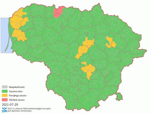 Dalyje Lietuvos - stichinė sausra