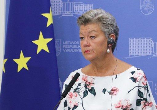 Eurokomisarė: fizinis barjeras pasienyje su Baltarusija yra būtinas