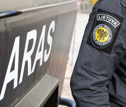 """Daržovių rūšiavimo sandėlyje rastą granatą sunaikino """"Aro"""" pareigūnai"""