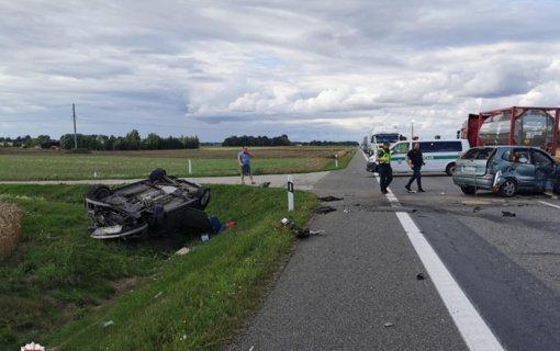 Antradienį eismo nelaimėse žuvo vienas, sužeista 19 žmonių
