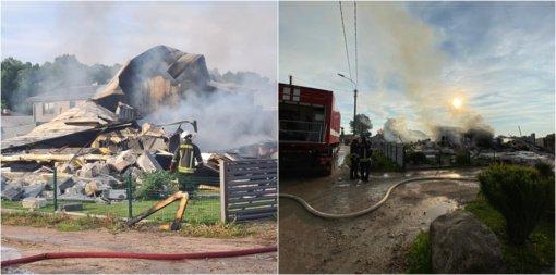 Šiauliuose sprogimas sulygino namą su žeme (vaizdo įrašas)