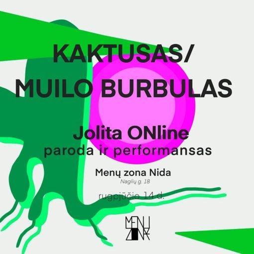 Menininkės Jolitos Online grafikos paroda ir performansas KAKTUSAS/MUILO BURBULAS